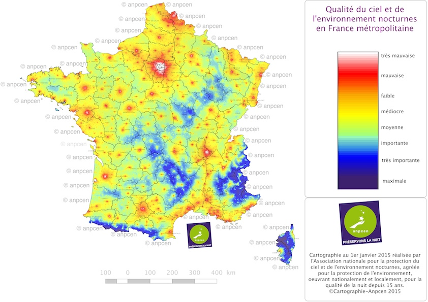 Carte Pollution Lumineuse Alsace.Anpcen Preservons La Nuit